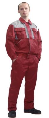Костюм (брюки + куртка) бордовый с серой кокеткой