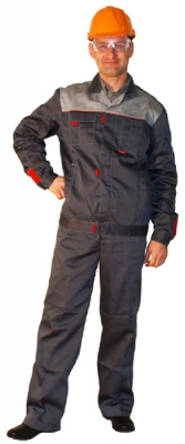 Костюм (полукомбинезон + куртка) серый Фаворит