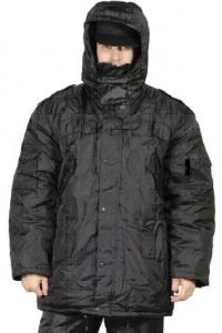 Костюм утепленный (полукомбинезон + куртка) чёрный, верх 100% п/э
